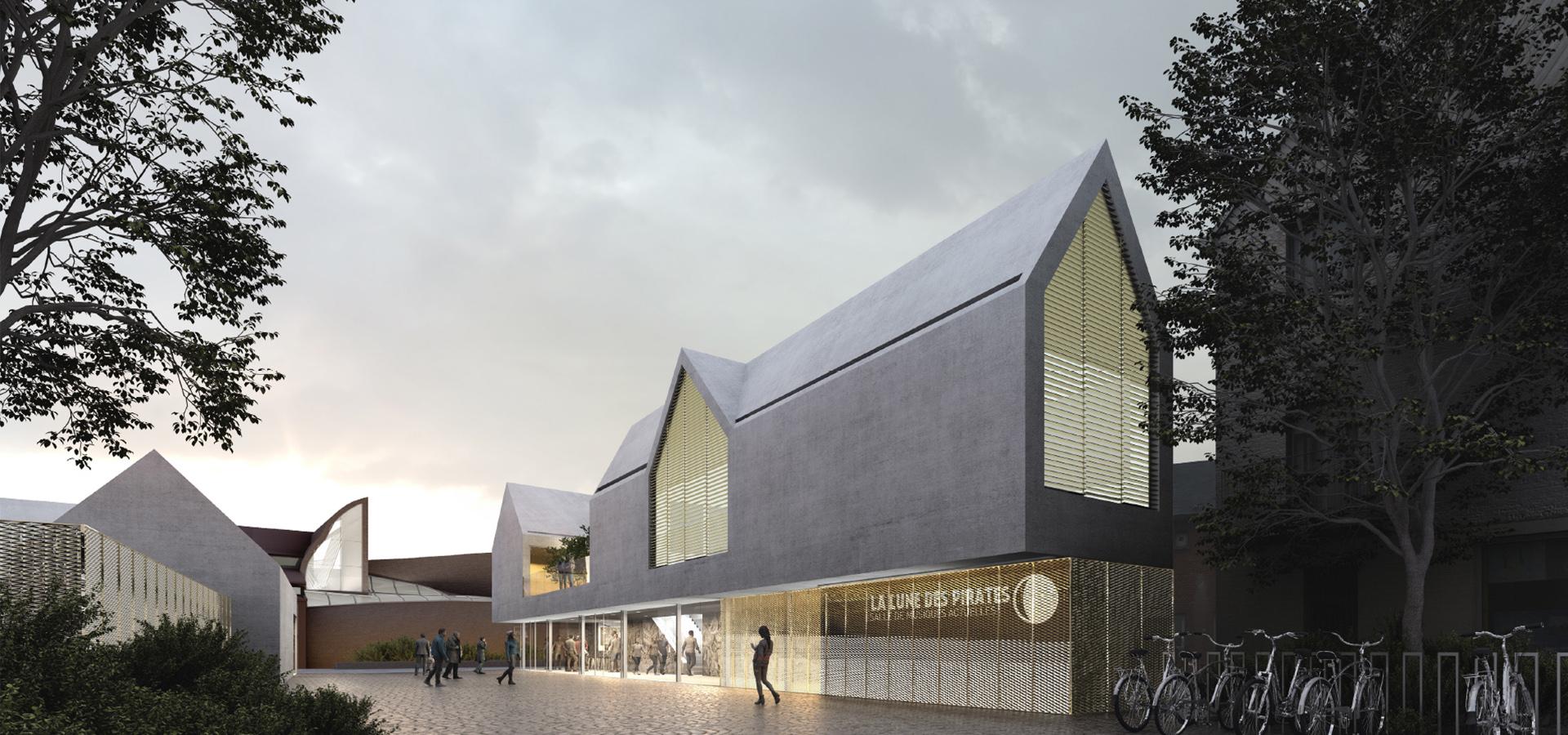 Lune des pirates projet architecture Amiens